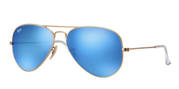 Blue aviator ray bans ebay